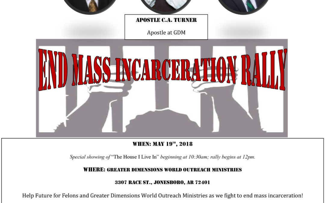 Rally in Jonesboro to Draw Attention to Mass Incarceration