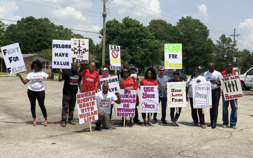 Pictures from the Future for Felons End Mass Incarceration Rally.
