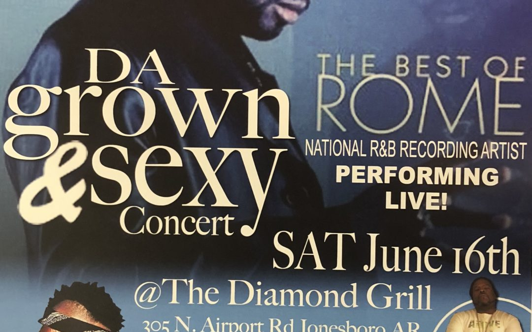 "R&B Artist ""Rome"" Comes to Jonesboro June 16th"