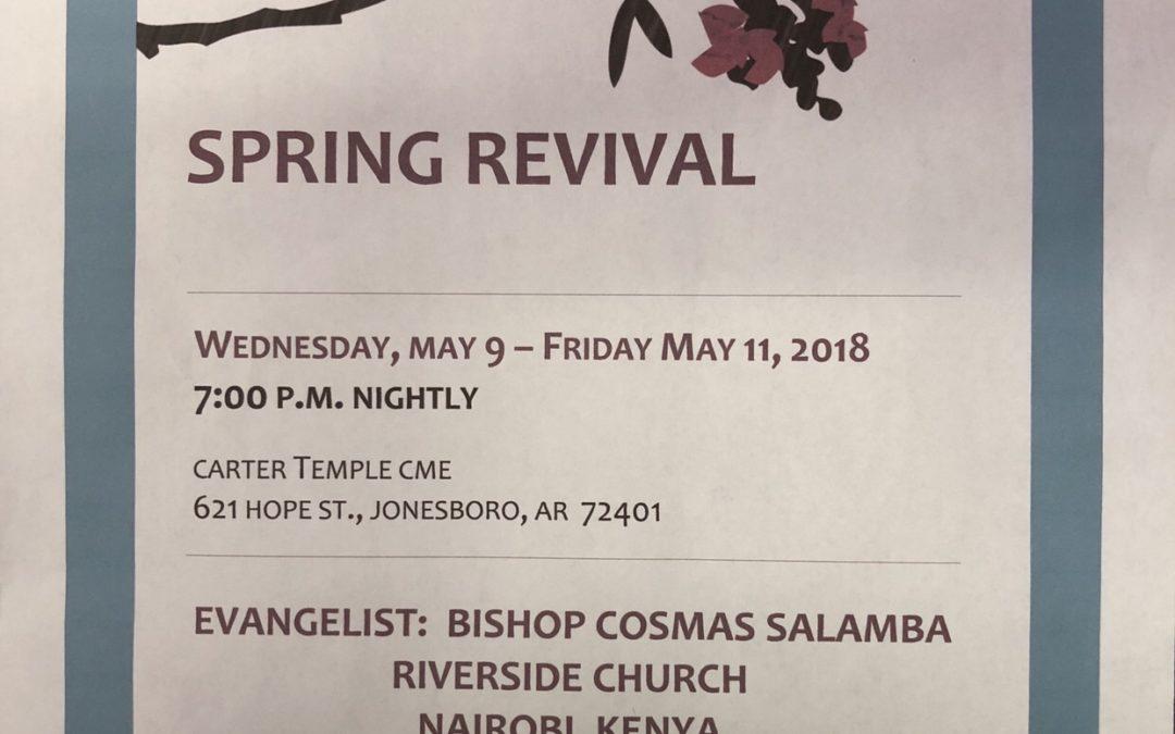 Carter Temple C.M.E. Spring Revival
