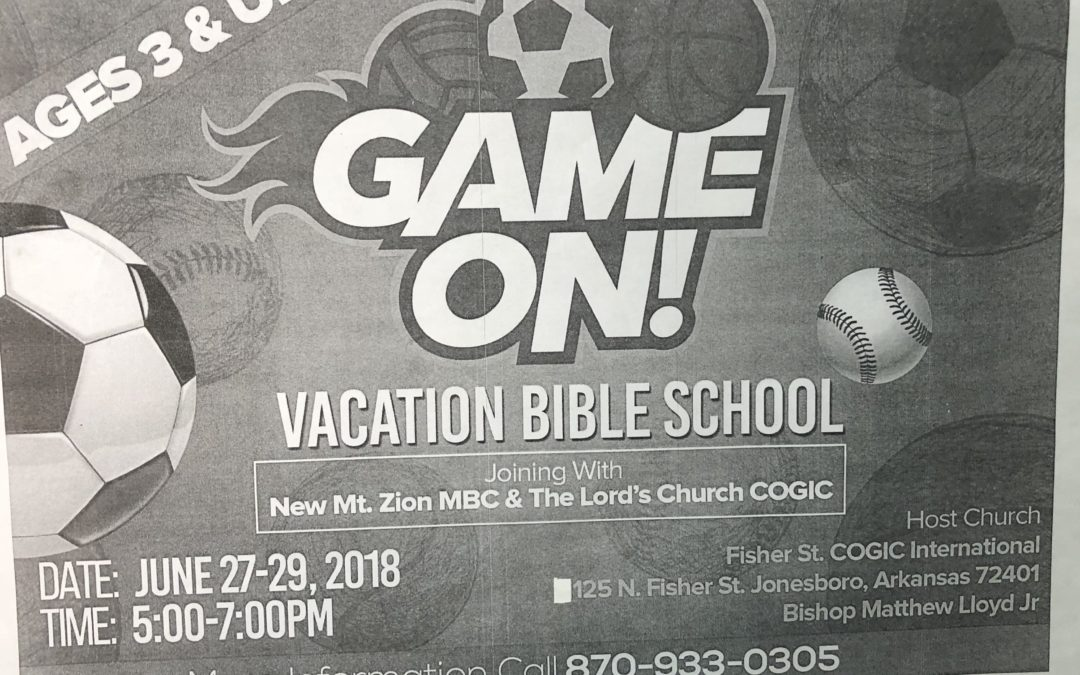 Game On Vacation Bible School