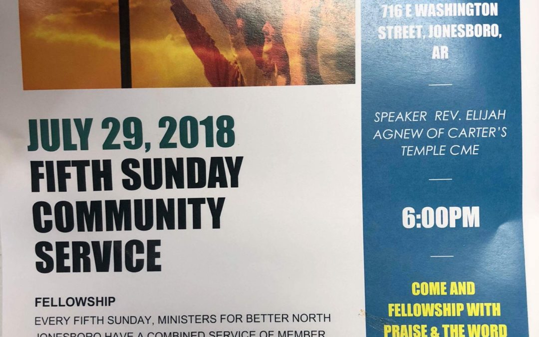 Fifth Sunday Community Service
