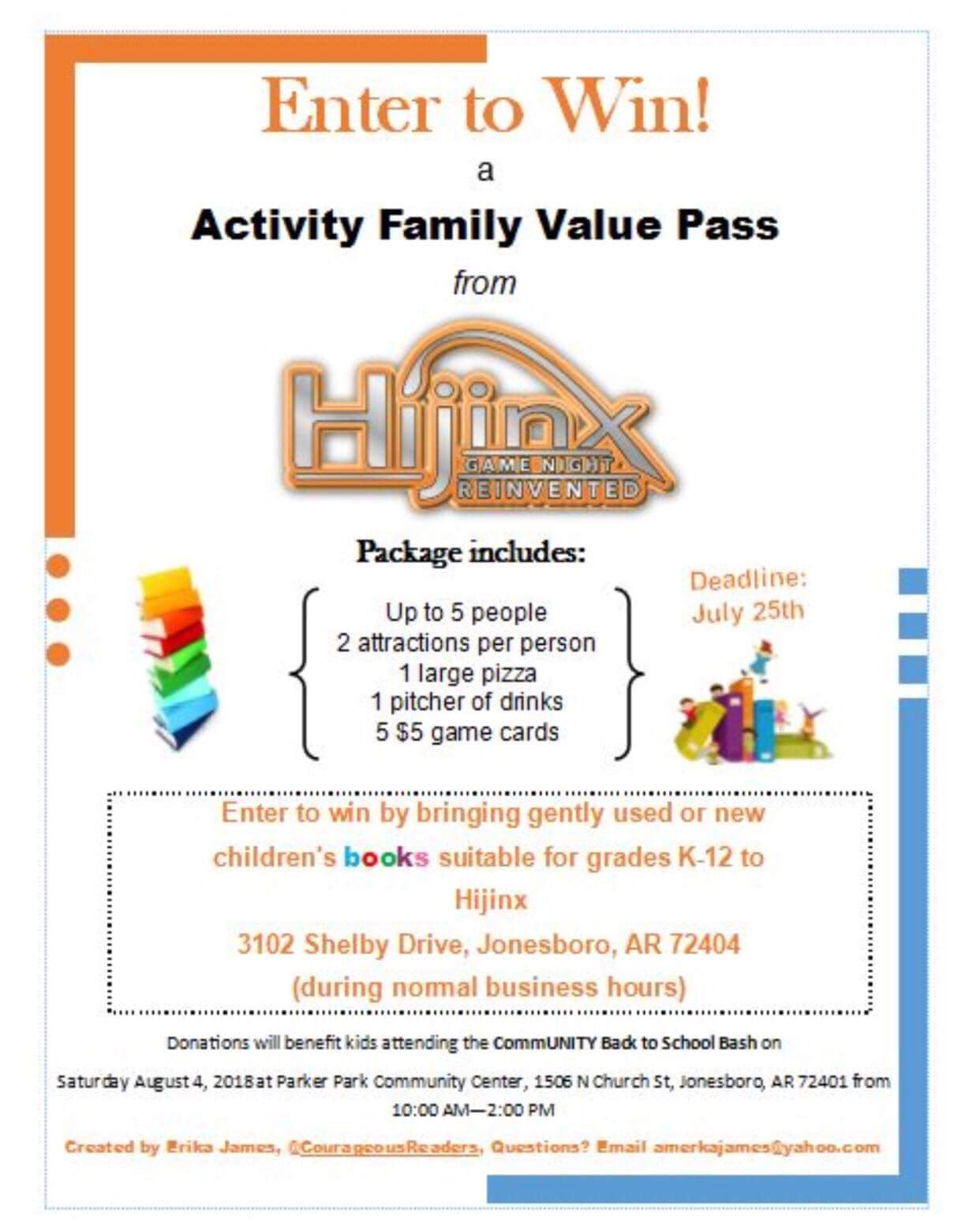 Win a activity family value pass from hijinx klek 1025 fm reheart
