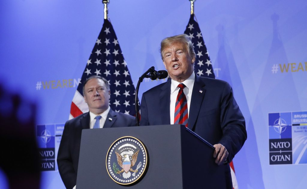 President Changes Tone At NATO Conference