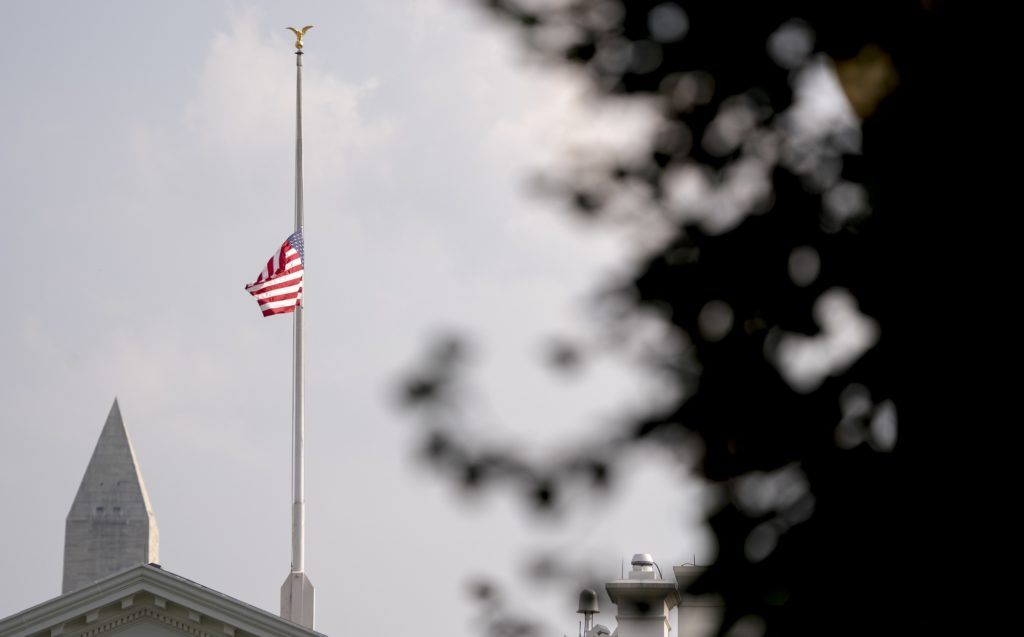 White House Re-Lowers Flag to Honor McCain