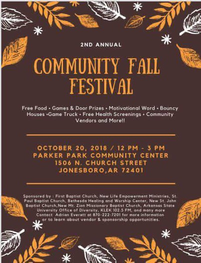 2nd Annual Community Fall Festival