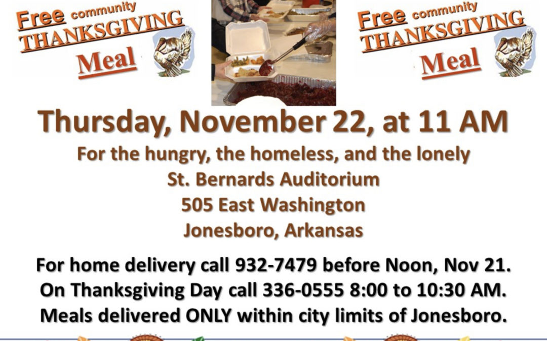 Jonesboro Community Thanksgiving Meal