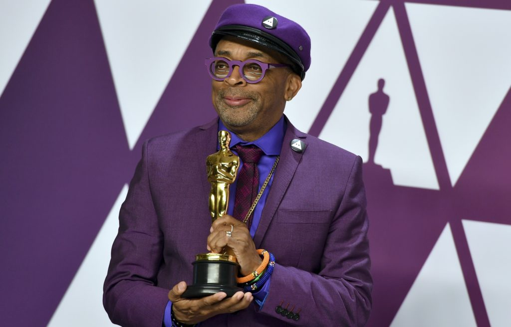 Backstage with Spike Lee at the Oscars