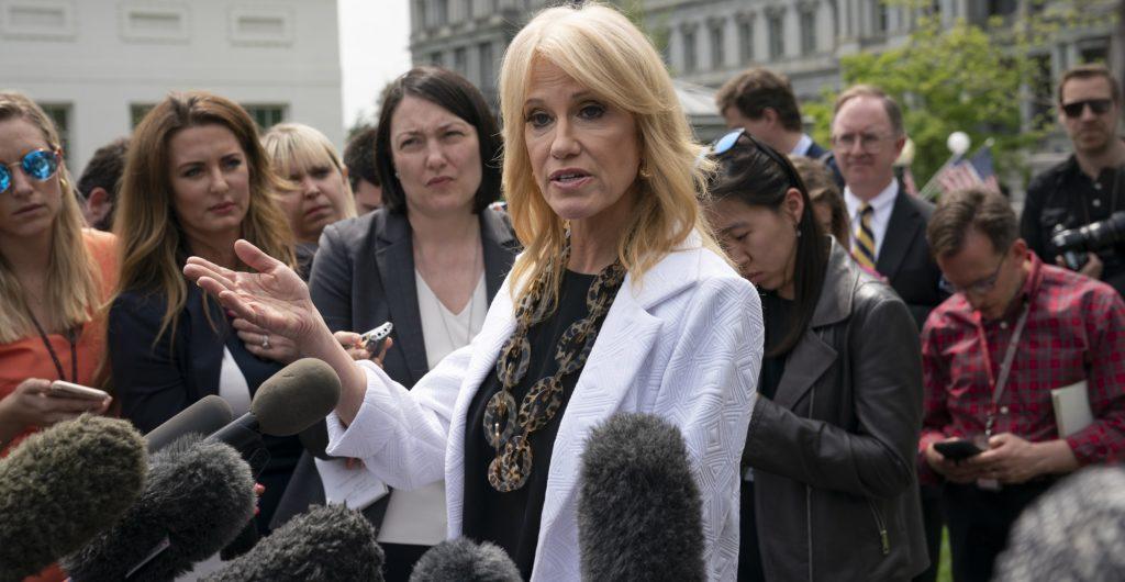 Kellyanne Conway Speaks to the Press