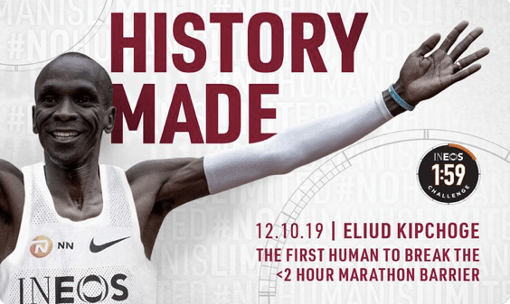 Kenyan Runner Eliud Kipchoge Breaks 2-Hour Marathon Mark in Austria
