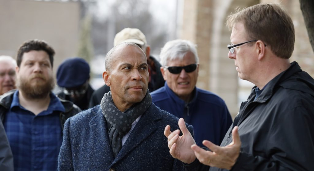 Deval Patrick Makes First Campaign Stop