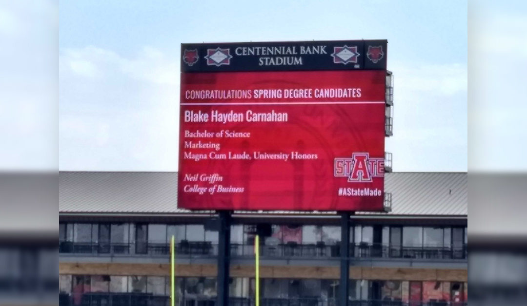 Spring Graduates to be Saluted on Video Board and Online