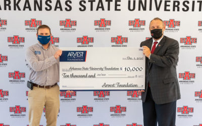 Arvest Foundation Donates $10,000 to Arkansas State University System Foundation