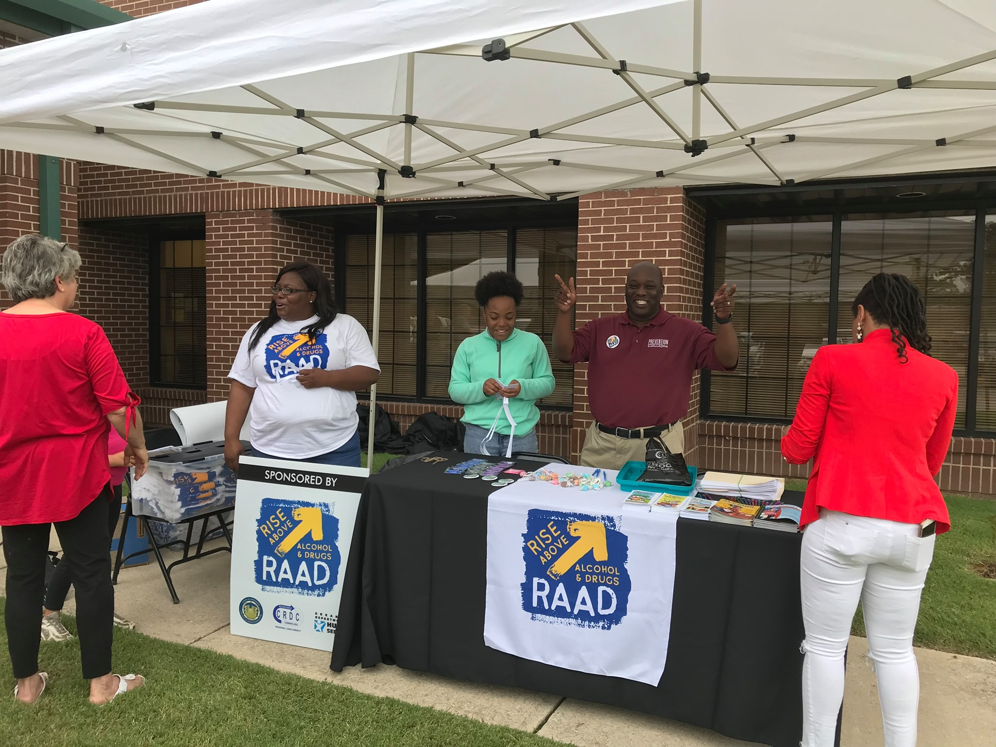 Members of the CRDC Regional Prevention team at a Clay County RAAD Kickoff even in 2019. (Source: CRDC Prevention Facebook)
