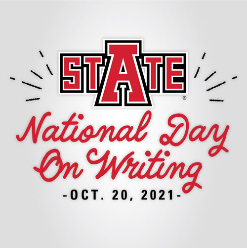 A-State to Celebrate National Day on Writing with Guest Speaker and Special Activities